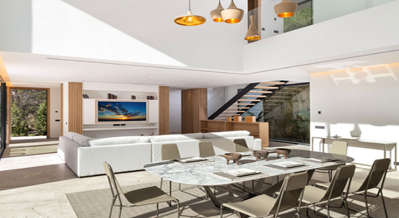 vivienda-otero-mallorca-son-vida-arquitecto-arkipolis-comedor-doble-altura