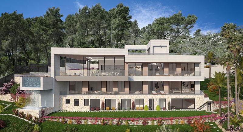 villa-de-lujo-Infinity-mallorca-son-vida-binicaubell-arquitecto-arkipolis-alzado-frontal