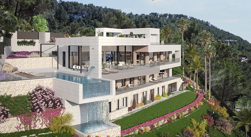 villa-de-lujo-Infinity-mallorca-son-vida-arquitecto-arkipolis-alzado-piscina-infinity