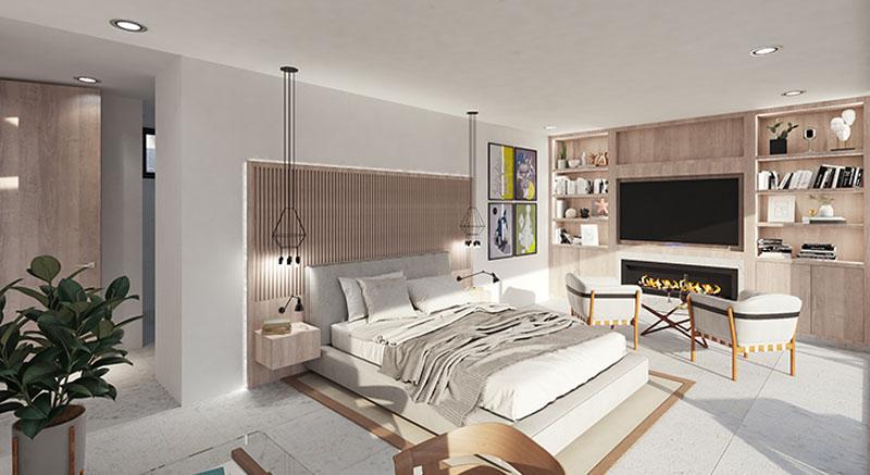 villa-de-lujo-Infinity-mallorca-son-vida-binicaubell-arquitecto-arkipolis-dormitorio-chimenea