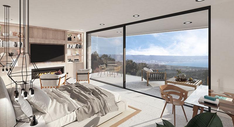 villa-de-lujo-Infinity-mallorca-son-vida-binicaubell-arquitecto-arkipolis-dormitorio-vistas-terraza