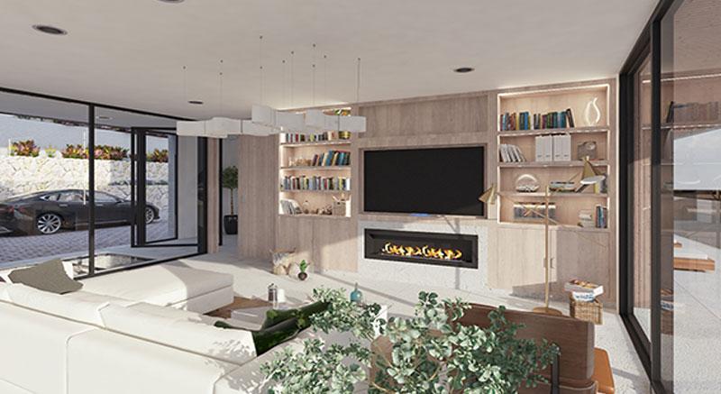 villa-de-lujo-Infinity-mallorca-son-vida-binicaubell-arquitecto-arkipolis-salon-chimenea